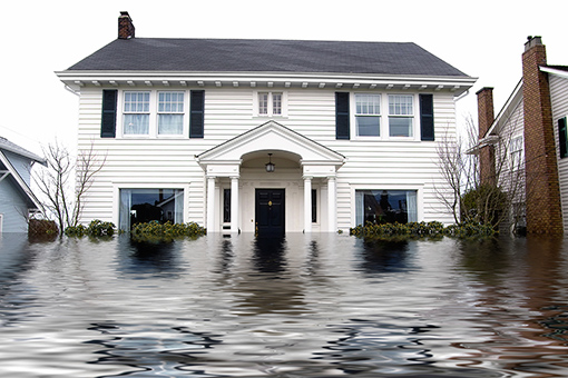 house in flood